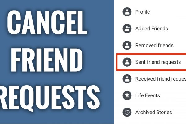 How to cancel sent friend requests on Facebook app