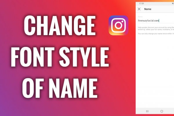 How to change font style of an Instagram name