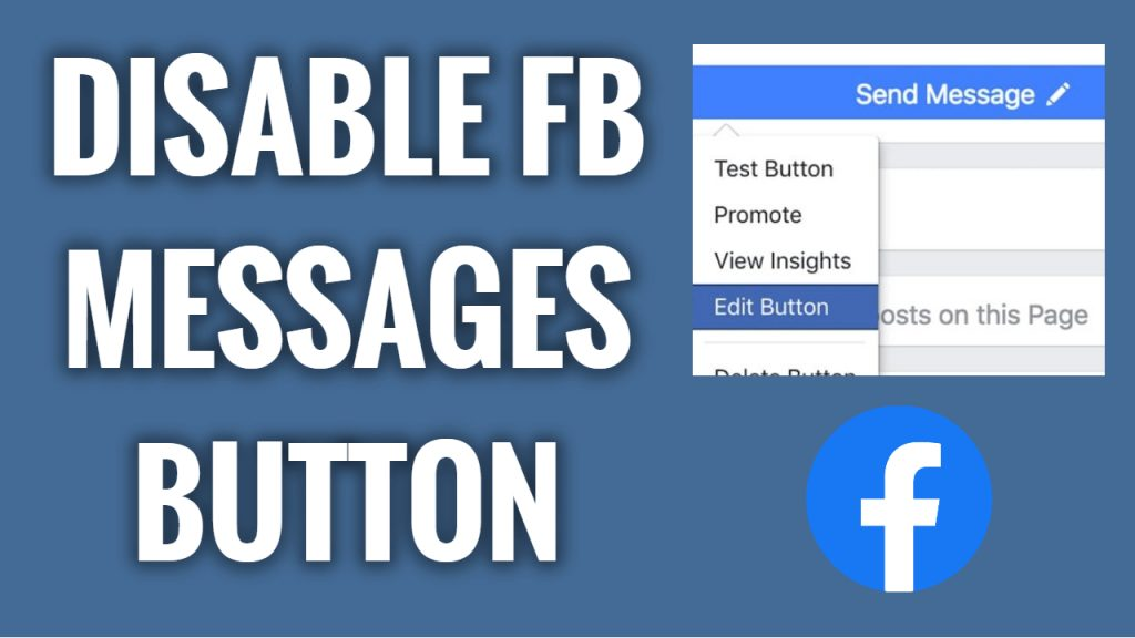 How to disable messages button on Facebook App