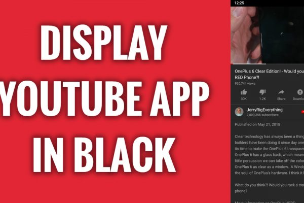 How to display YouTube App in black