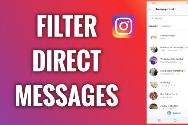 How to filter Instagram direct messages