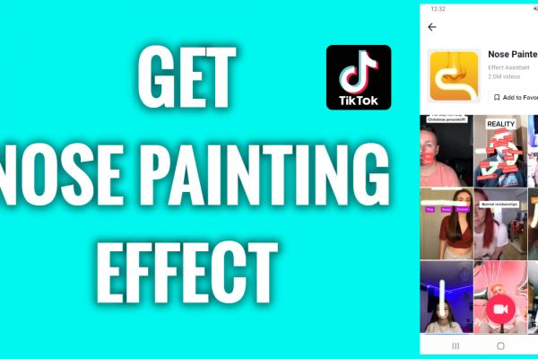How to get a nose painting effect on TikTok