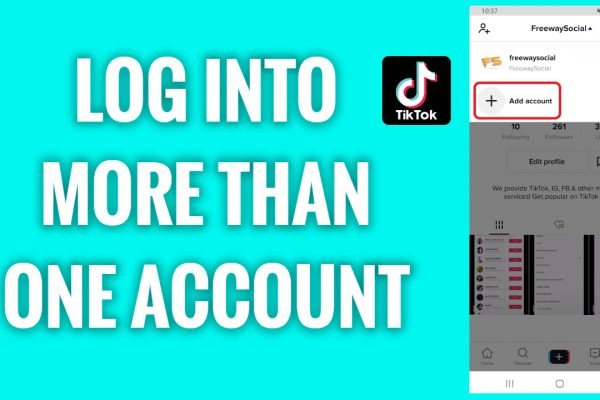 How to log into more than one account on TikTok