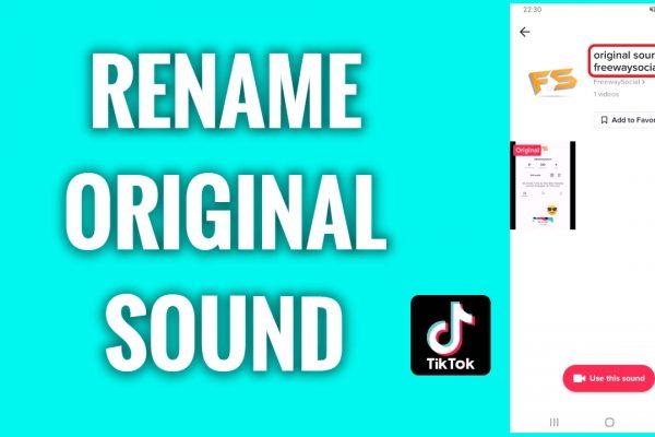 How to rename your original sound on TikTok