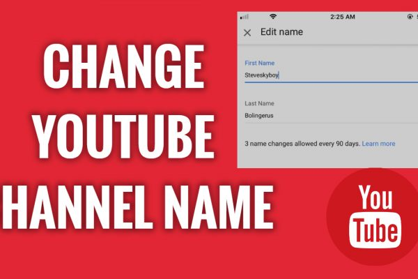 How to Change YouTube Channel Name on mobile