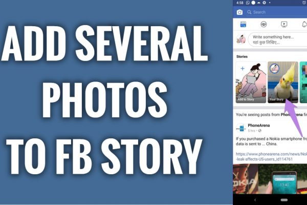 How to add several photos to one Facebook story