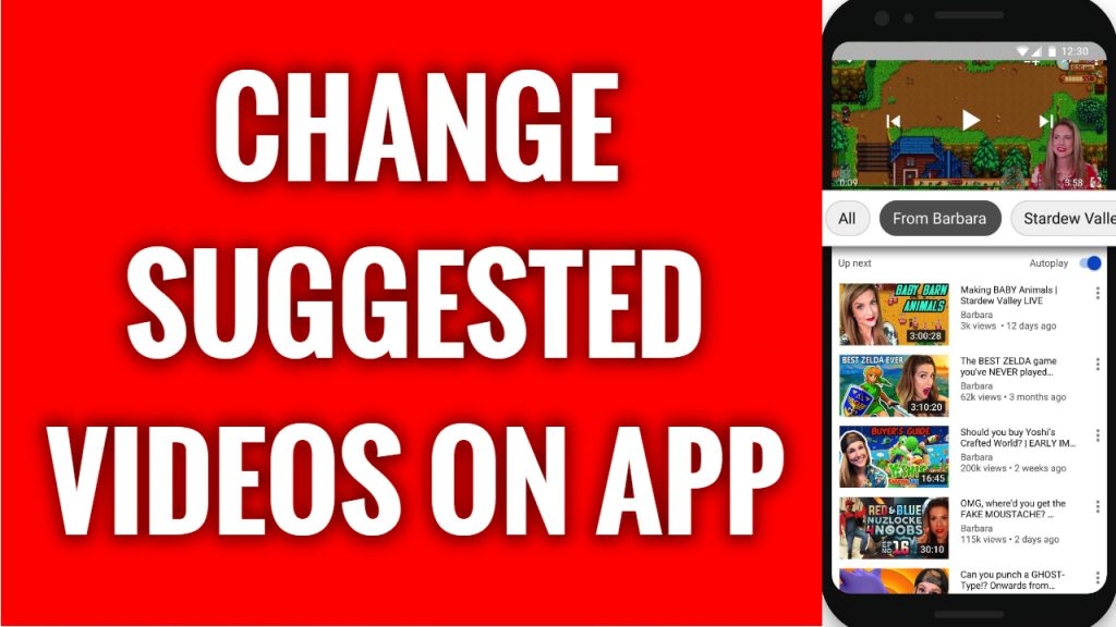 How to change suggested videos on YouTube App