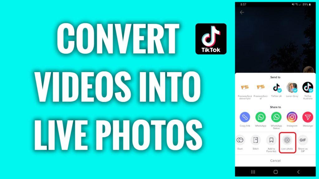 How to convert TikTok videos into live photos