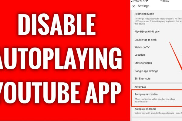 How to disable videos from autoplaying on YouTube App