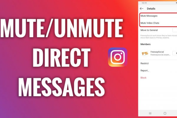 How to mute and unmute Instagram direct messages