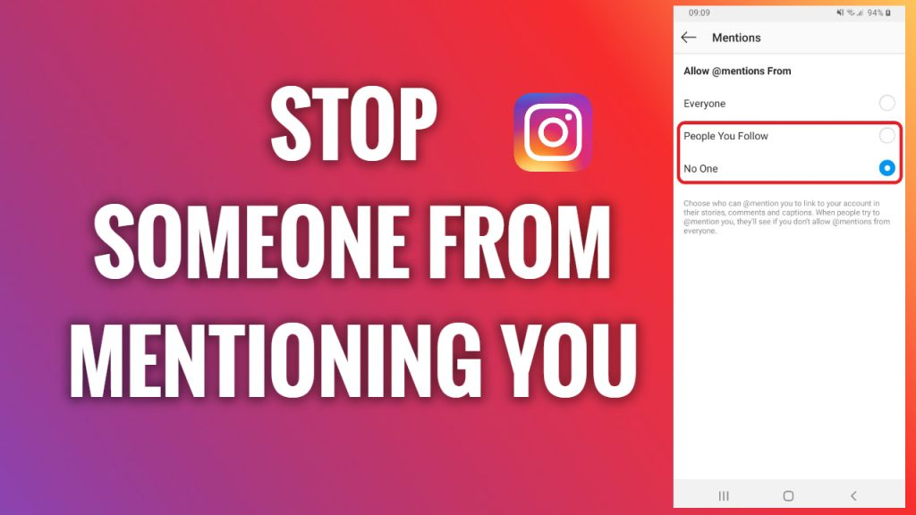 How to Stop People From Mentioning You on Instagram? | FreewaySocial
