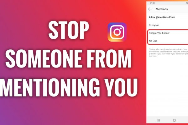 How to stop someone from mentioning you on Instagram