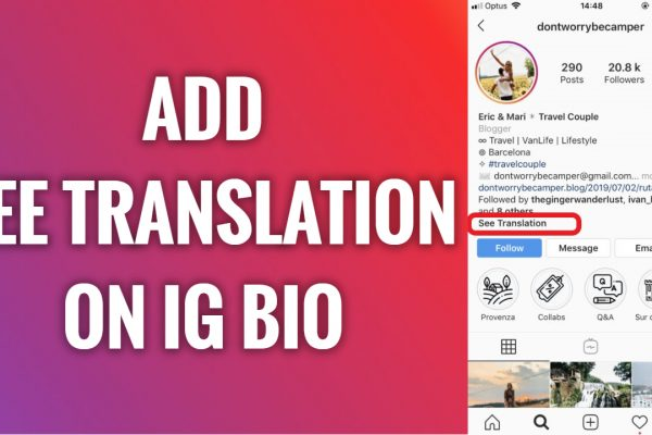 How to add translate option in Instagram bio