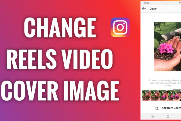 How to change the cover image of an Instagram Reels video