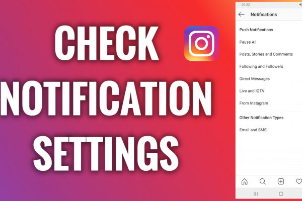 How to check Instagram notification settings