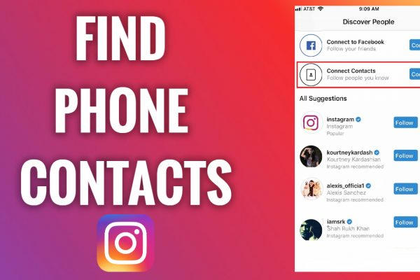 How to find phone contacts on Instagram