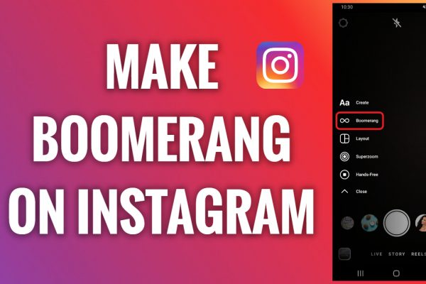 How to make a boomerang on Instagram