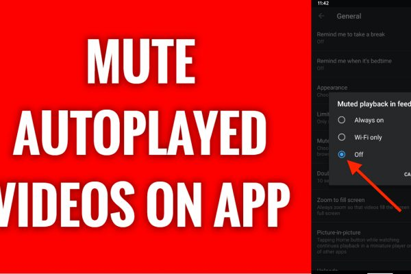 How to mute YouTube autoplayed feed videos
