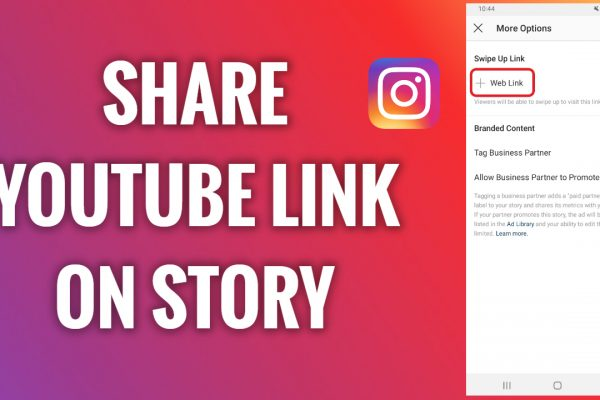 How to share YouTube link on Instagram Story