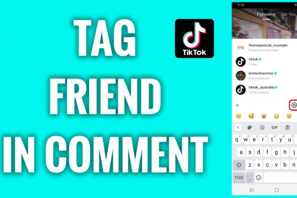How to tag a friend in a comment on TikTok