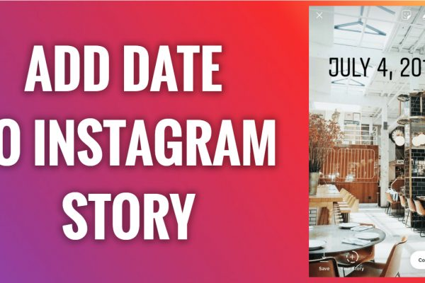 How to add date to Instagram story