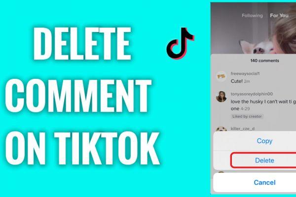 How to delete comment on TikTok