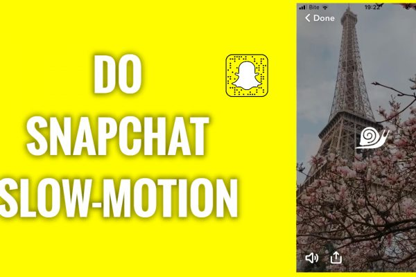 How to do a slowmotion on Snapchat