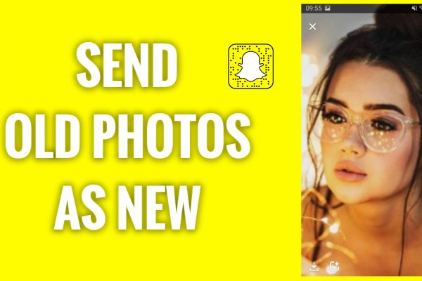 How to send old photos on Snapchat as new (no timestamp)