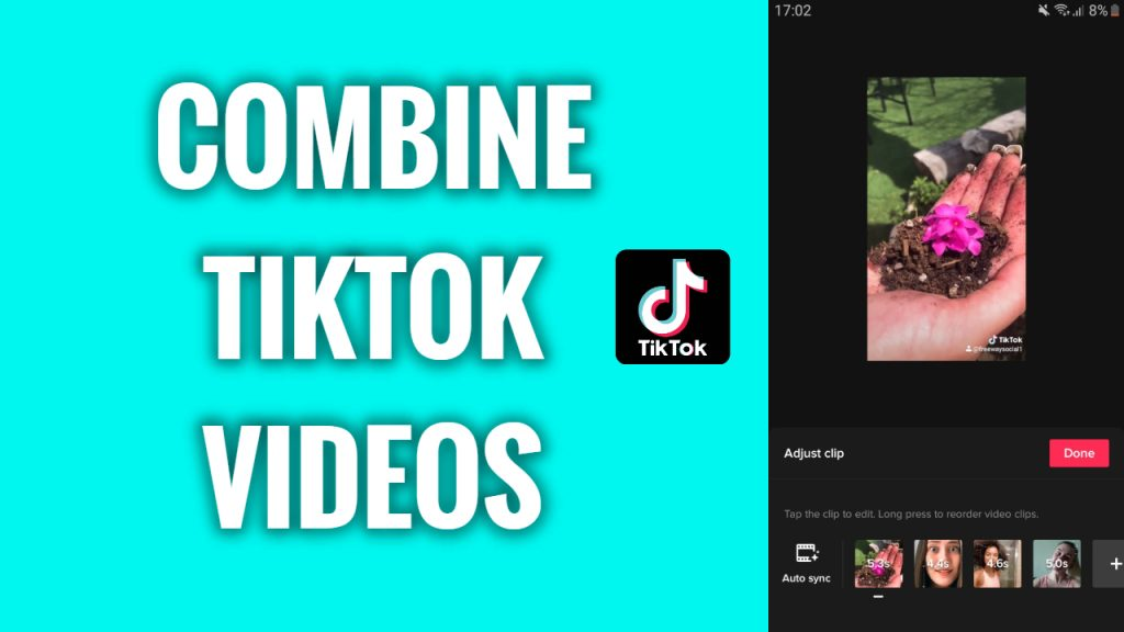 How to combine videos on TikTok