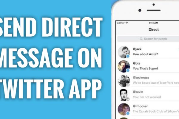 How to send direct message on Twitter app