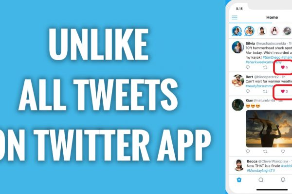 How to unlike all tweets on Twitter App