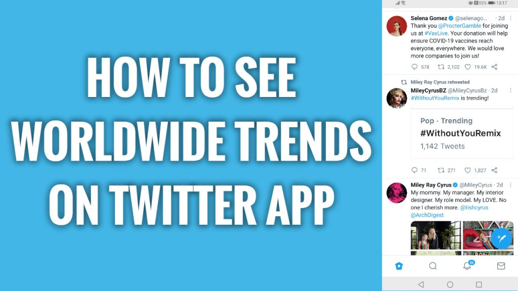 How to see worldwide trends on Twitter app