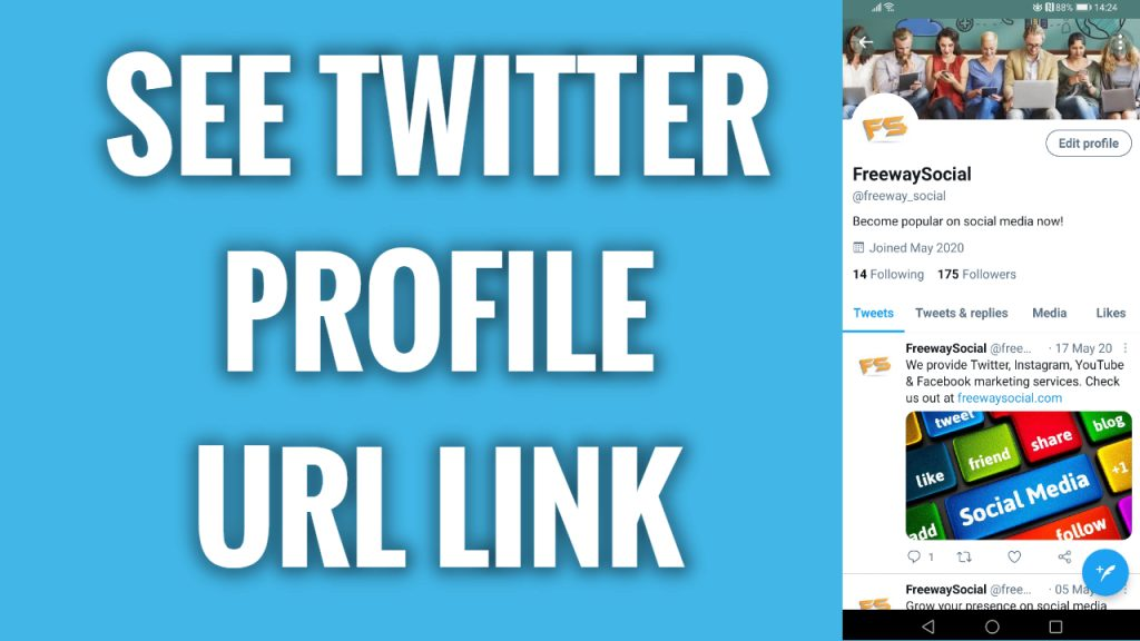 How to see your Twitter profile URL link in 2021