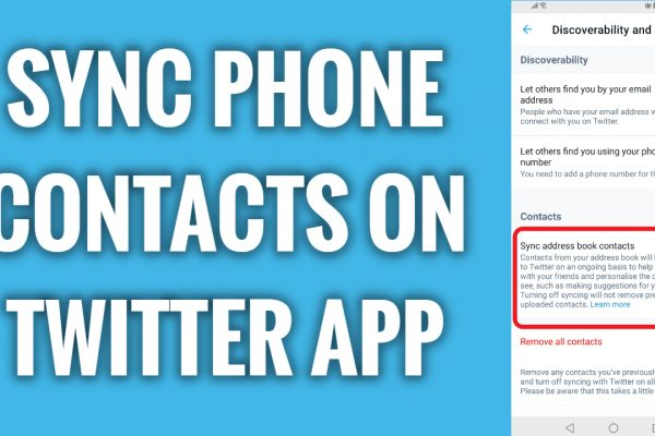 How to sync phone contacts on Twitter app