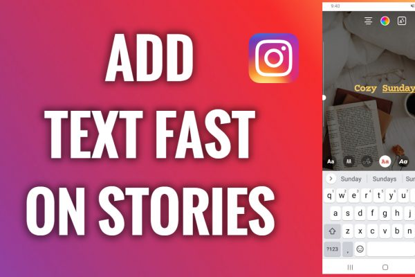 How to add text fast on Instagram Stories