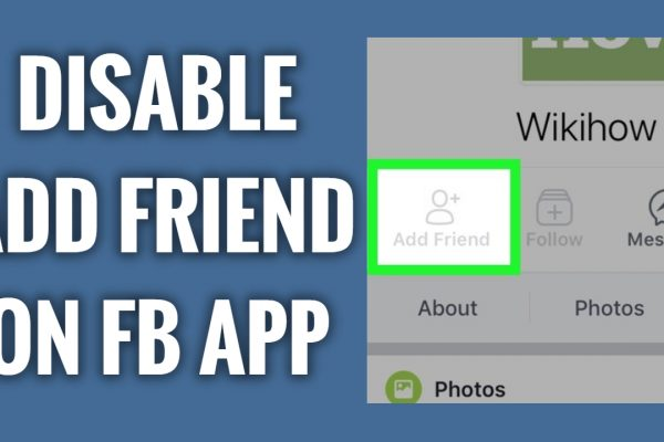 How to disable add friend button on Facebook App