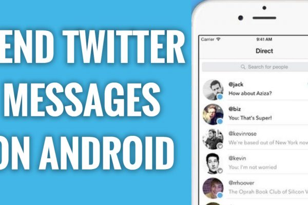How to send messages on Twitter Android