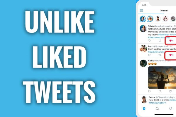 How to unlike your liked tweets