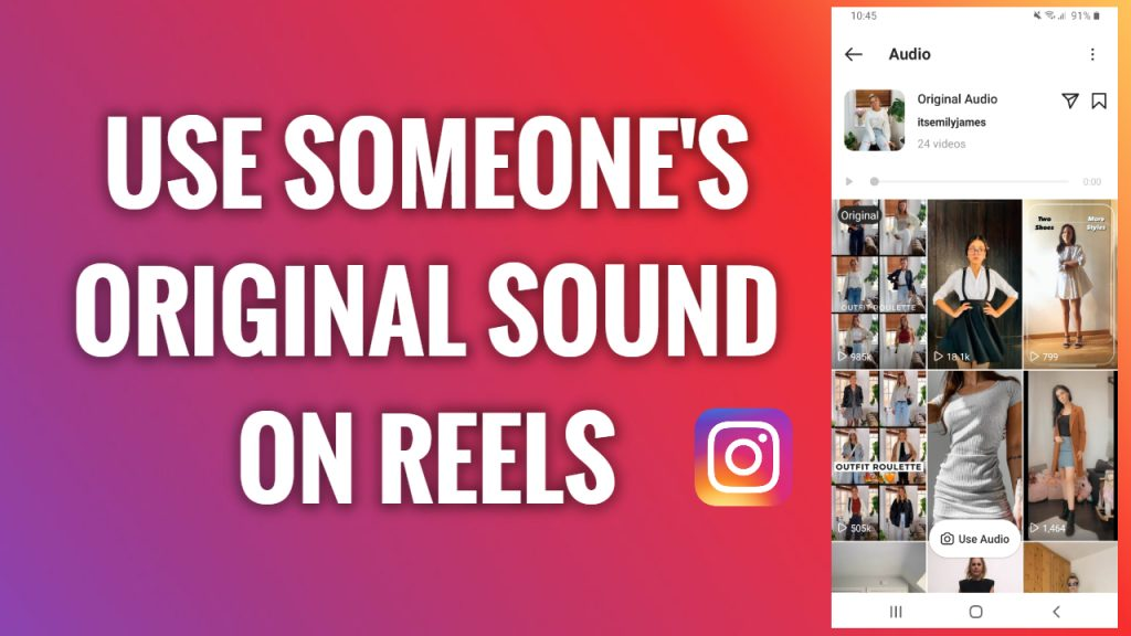 How to use someone's original sound on Instagram Reels