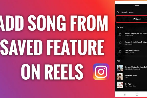 How to add a song from the saved feature on Instagram Reels