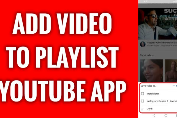 How to add a video to playlist on YouTube App