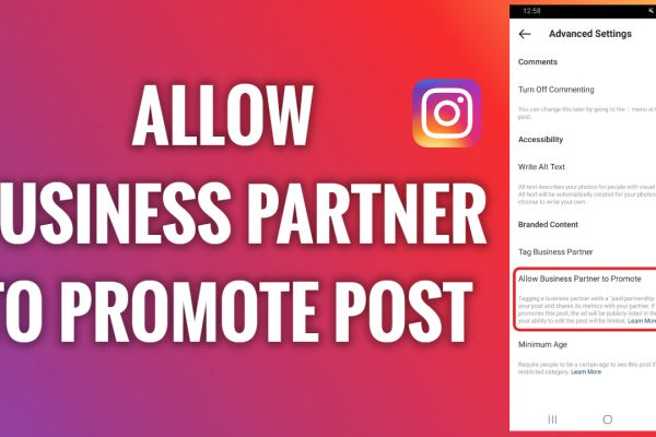 How to allow a business partner to promote your Instagram post
