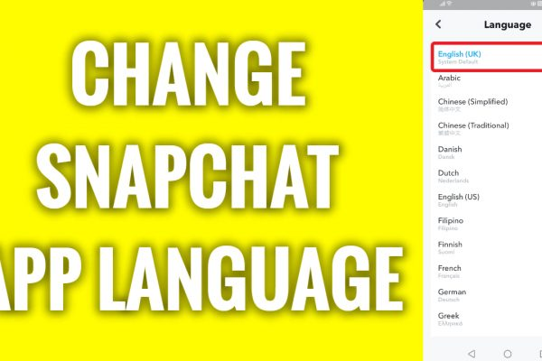 How to change Snapchat app language