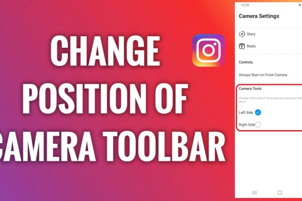 How to change a position of Instagram camera toolbar