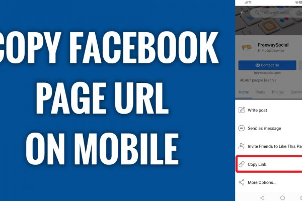 How to copy Facebook page url on mobile