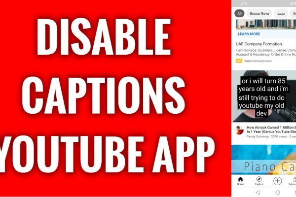 How to disable captions on YouTube App