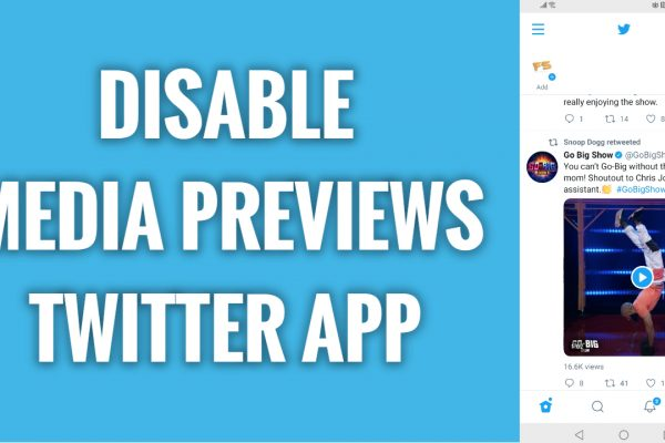 How to disable media previews on Twitter app