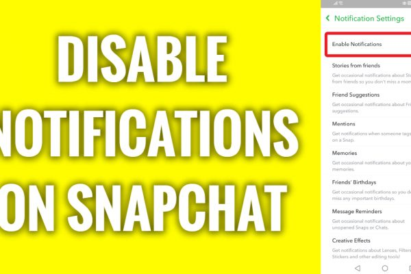 How to disable notifications on Snapchat