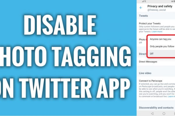 How to disable photo tagging on Twitter app