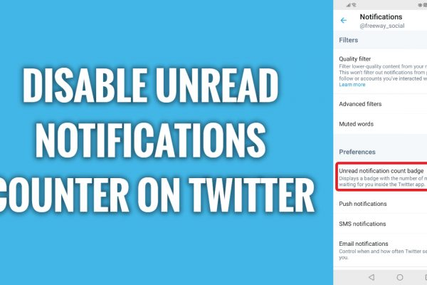 How to disable unread notifications counter on Twitter mobile